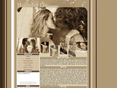 Spring Break! :: Hollister - Myspace Layouts - CreateBlog